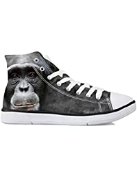 Showudesigns Casual High Top Canvas Shoes For Women Cool 3D Animal Sneaker