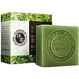 ounona sólido Champú Jabón, aceite de ingredientes naturales y orgánicos jabón para baño, aprox. 100g (Matcha)