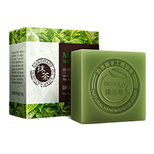 OUNONA Solid Shampoo Soap, Natural and Organic Ingredients Oil Soap for Bath,aprox.100g(Matcha)
