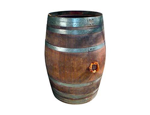 Temesso Regentonne, Holzfass, Weinfass Barrique, Fass aus Eiche 225 Liter inkl. Deckel