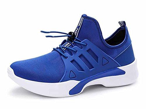 Uomini Allacciare Scarpe da corsa Autunno inverno scarpe casual traspiranti sport all'aria aperta Blue