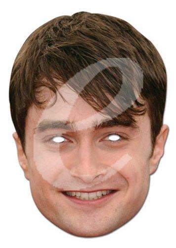 empireposter Daniel Radcliffe Prominentenmaske, Papp Maske, aus hochwertigem Glanzkarton mit Augenlöchern, Gummiband - Grösse ca. 30x21 - Daniel Radcliffe Kostüm
