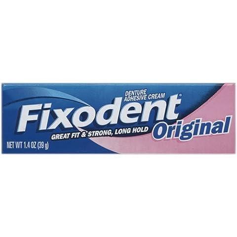Fixodent Denture Adhesives Cream, Original - 1.4 Oz (Pack of