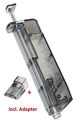 LIANA IRWIN 1 Stück 100 BB Airsoft Guns Speedloader Pistolenadapter für Softairwaffen Kaliber 6 mm (Airsoft Pellet Gun)