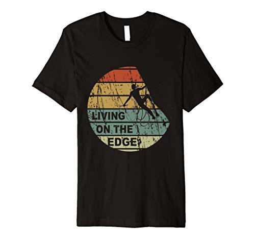 Living on the edge T-Shirt I Klettern Bouldern Männer Frauen (Shirt Klettern)