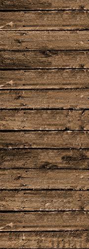 Queence   Premium-Tapete   selbstklebend   Fototapete XXL   Vinylfolie  Tapetenfolie  Wandtapete   'Dunkles Holz'   Größe: 90x250 cm (Dunkles Holz Wallpaper)