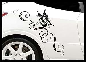 autocollant 2x papillon pour capot arri re ou d 39 une fen tre de voiture 1x gauche 1x droite. Black Bedroom Furniture Sets. Home Design Ideas