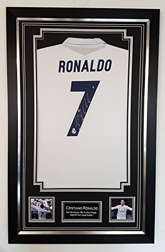 Cristiano-Ronaldo-Signed-and-Framed-Real-Madrid-shirt