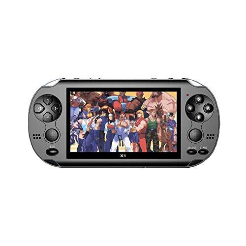 MapleFR Double Console de Jeu à Bascule Console de Jeu PSP pour Enfants rétro Mini Console de Jeu Console de Jeu électronique AVG Jeu d'aventure, Jeu de rôle RPG, Jeu d'action ACT,Black