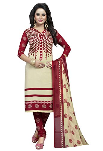 Ishin Synthetic Beige & Brown Party Wear Wedding Wear Casual Wear Daily Wear Bollywood New Collection Latest Design Printed Trendy Unstitched Salwar Suit Dress Material (Anarkali/Patiyala) With Dupatta  available at amazon for Rs.299