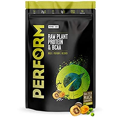 Vivo Life PERFORM Madagascan Vanilla Raw Plant Based Protein Powder with BCAA Vegan All Natural Gluten Free Superfoods Digestive Enzymes Antioxidants