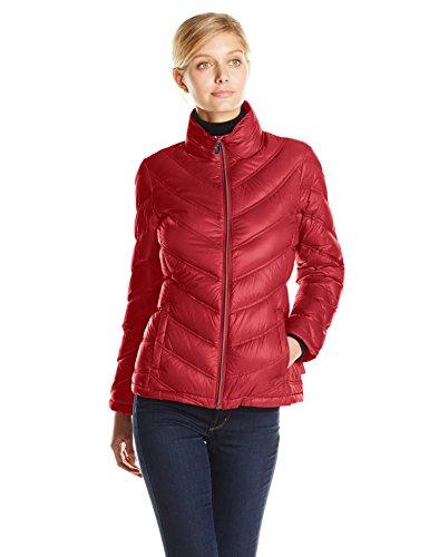 Calvin Klein Damen Lightweight Packable Down Short Jacket Daunenmantel, rot, X-Groß -