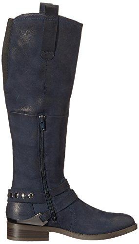 SPM Damen Katy High Boot Reitstiefel Blau (Dk Navy)
