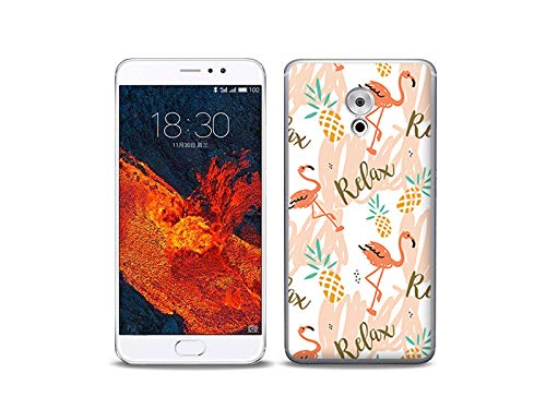 etuo Handyhülle für Meizu Pro 6 Plus - Hülle, Silikon, Gummi Schutzhülle - Rosa Flamingos