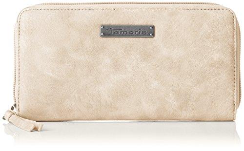 Tamaris Damen Patty Big Zip Around Wallet Geldbörse, Beige (Pepper), 2x10x19,5 cm