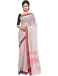 Slice Of Bengal Light Weight Broad Border Cotton Handloom Taant Tangail Saree-101001001073