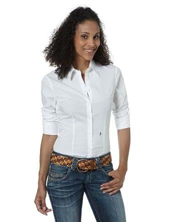 Seidensticker Damen Bluse Slim Fit, 60620, Gr. 36, Weiß (01)