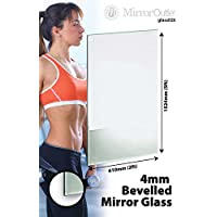 5Ft X 2Ft (153 X 61cm) Bevelled Safety Backed Mirror Glass Home Gym Or Bathroom 4mm Thick