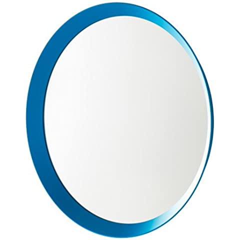 IKEA langesund Bianco Specchio rotondo 50cm di diametro, Accessori per il montaggio inclusi Blue