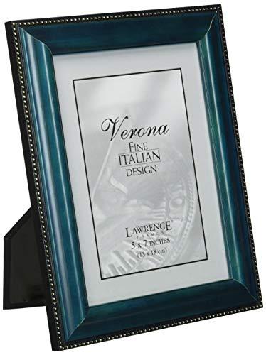 Lawrence Frames blau Holz 5x 7Bilderrahmen-Gold Bead Design