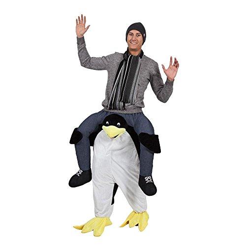 80er Kostüme Jahre Filme (PEEKS Erwachsene Carry Me Pinguin Weihnachten Kostüm Volle Outfit Eine)