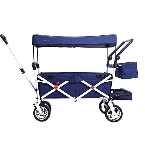 Multifunktions Klappgarten Warenkorb Kinderwagen/Abnehmbare Wäsche/Große Kapazität Größe: 122 * 50 * 96 cm/Last: 150 KG/Dark Blue