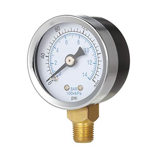 0-200psi 0-14bar Manometer Dial-Luftverdichter Hydraulik-Druck-Prüfvorrichtung -
