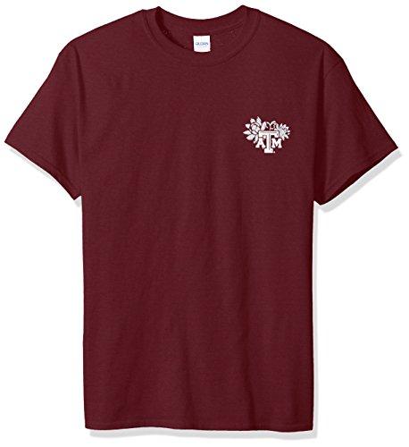 New World Graphics NCAA Texas A&M Want to Yell Kurzarm-Shirt, Größe L, Kastanienbraun Texas A&m University Atm