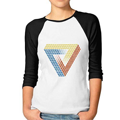 FHddg Penrose Puzzle Women's Unisex Tri-Blend 3/4 Sleeve Raglan T-Shirt tee