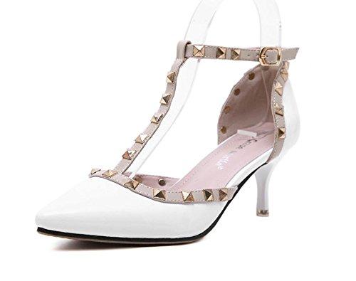 GS~LY Scarpe da donna con una mancia bene rivetto con fibbia scarpe apricot
