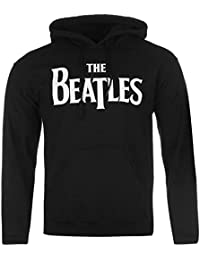 The Beatles Official Drop T Logo Pull à capuche pour homme Noir à capuche pour homme
