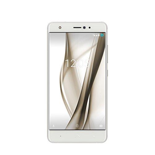 BQ C000260 Aquaris X Pro Smartphone (13,2 cm (5,2 Zoll), 64GB interner Speicher, 4GB RAM, 12 MP Dual Pixel Kamera, Android) weiß/glänzend-weiß (Verwendet-dual-sim-android-handy)