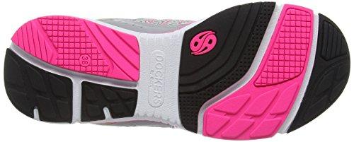 Dockers by Gerli - 37ie201-700, Scarpe da ginnastica Donna Grigio (Grau/pink)