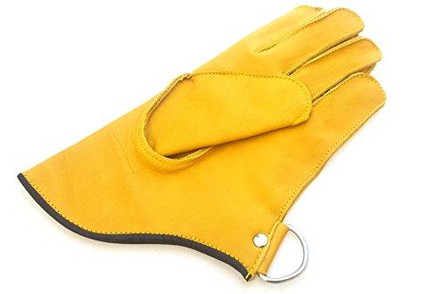 Calidad sola capa suave piel de vaca auténtica guantes de manejo de pájaros Cetrería Short Guantes//Pet Guantes. Puño corto Falcon/Small Hawk, búho Guante.