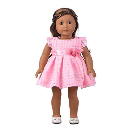 American Puppenkleider 45,7cm für Mädchen, American Girl Puppen Kleidung Kleidung, und Zubehör vneirw, rose