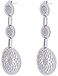 IGP Silver Plated Jaali Work Stainless Steel Fashion Dangler Earrings For Women And Girls