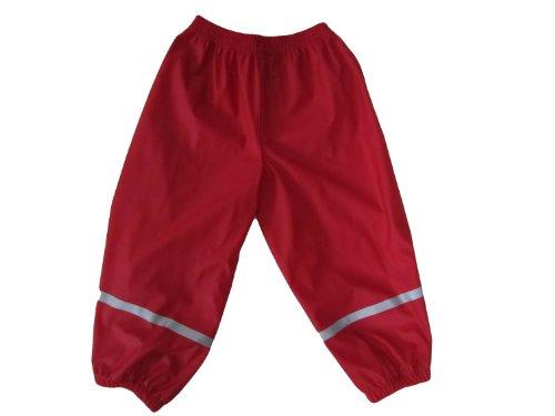 Preisvergleich Produktbild Kiddidoo 47035_104 - Kinder-Regenhose, Größe 104/110, rot