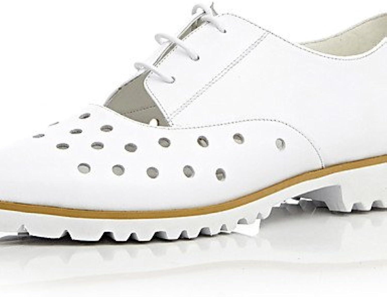 NJX/ 2016 Zapatos de mujer - Tacón Bajo - Comfort / Puntiagudos - Oxfords - Exterior / Oficina y Trabajo / Casual...