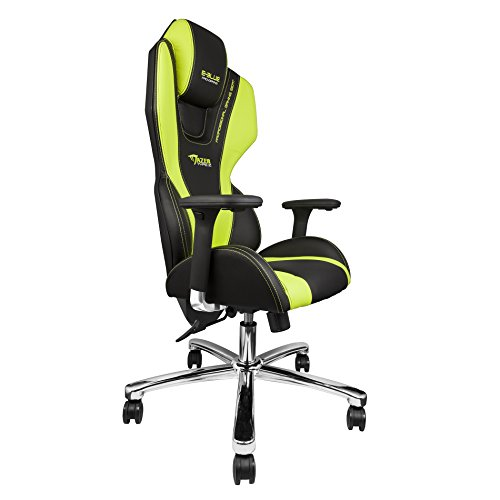Good E Blue Mazer Gaming Chair PU Leather Office Ergonomic Computer ESports Desk  Executive EEC304GR Green   Garden Rattan Furniture