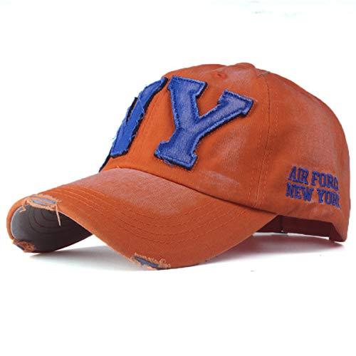 zhuzhuwen Europäische Version von Baumwolle gewaschen Baseballmützen Hut lässig Sommer Sonnenhut 2 56-62cm