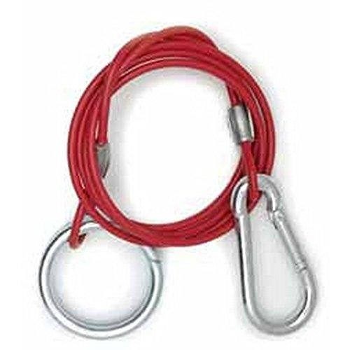 Preisvergleich Produktbild W4 Anhänger Sicherungsseil mit Split Ring (Einheitsgröße) (Rot)
