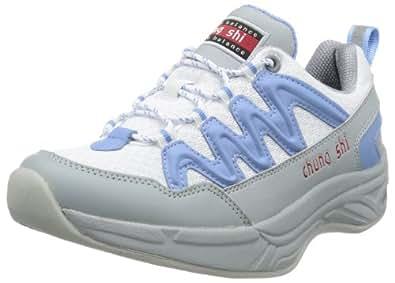 Chung Shi AuBioRiG Balance Step London 9101021, Damen Outdoor Fitnessschuhe, Weiß (weiss/blau), EU 35.5 (UK 3)
