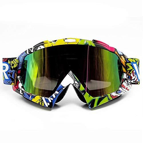 ASUD Motorradbrillen Crossbrille Schutzbrille Outdoor Sports Tactical Glasses Staubdichte Combat Military Sonnenbrille Für Kinder, Jungen, Mädchen, Jugendliche, Männer, Frauen,F