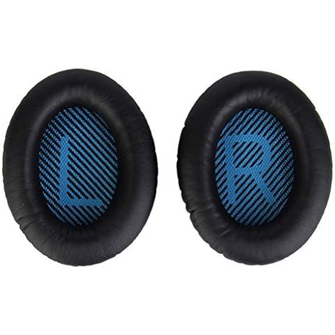 Sostituzione Cuscinetti Cuscino Cuffia Dell'orecchio Copertura Per Bose Qc25 1pair Nero
