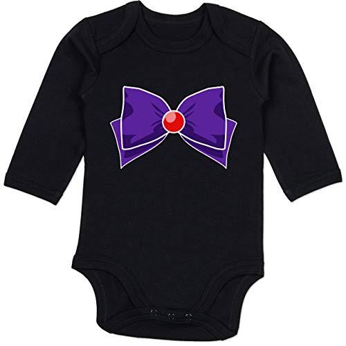Karneval und Fasching Baby - Superheld Manga Mars Kostüm - 6-12 Monate - Schwarz - BZ30 - Baby Body Langarm