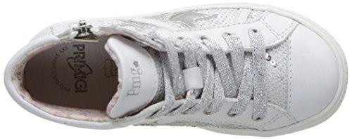 Primigi - Psa 7198, Pantofole a Stivaletto Bambina Blanc (Bianco/Bco-Arge)