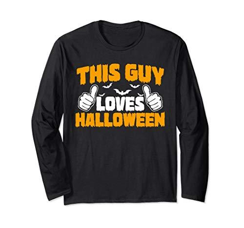 Dieser Kerl liebt Halloween Lustiges Halloween Langarmshirt