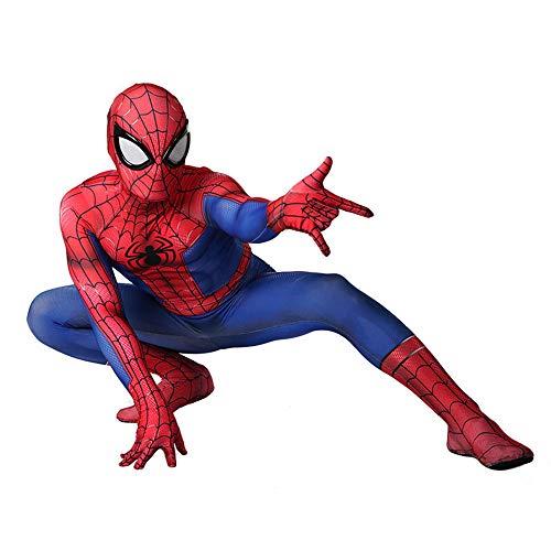 YXIAOL Super-Spider-Man-Kostüm, Heldenkostüm, Halloween-Karnevalskostüm, Cosplay-Partykostüm, 3D-Lycra-Strumpfhose - Erwachsene/Kinder,Child-L