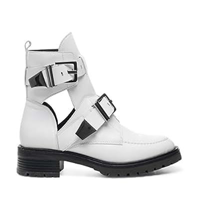 Sacha Damen Biker Boots Weiß (Size: 36) Artikel 4.5043