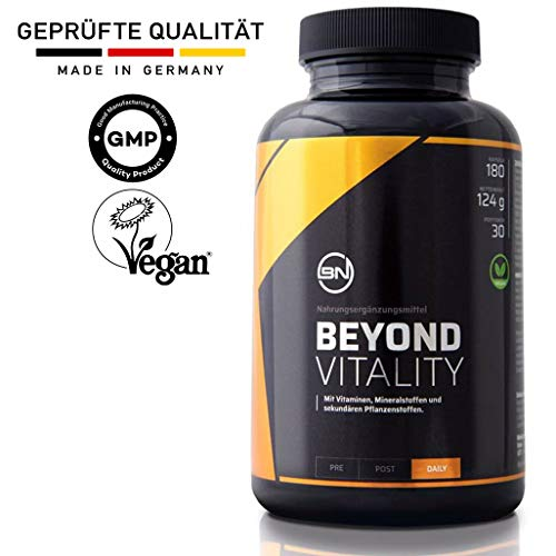 Antioxidantien & Zellschutz Komplex hochdosiert von Beyond Nutrition für mehr Fokus & Vitalität | Vitamine, Mineralstoffe & Superfoods wie Maca, Ingwer & Guarana | 180 vegane Kapseln Nahrungsergänzung